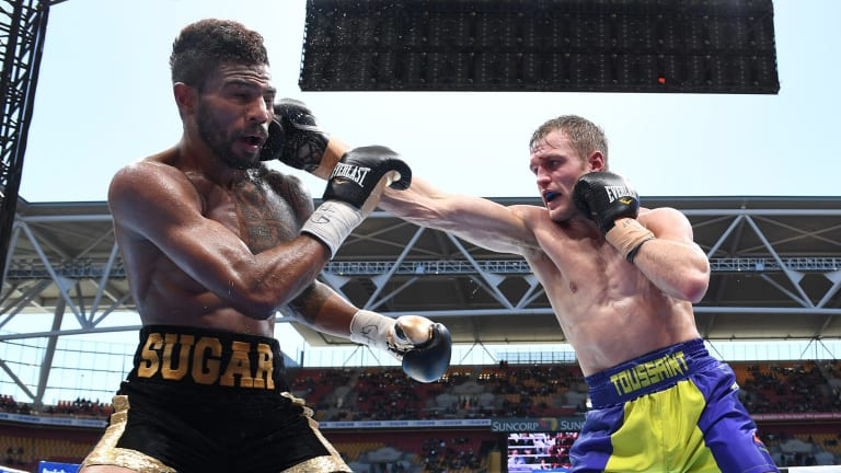 Canberra boxer Dave Toussaint defeated Shane Mosley Jr.