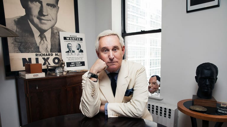 Roger Stone's days in the dark arts of electioneering go back to the Nixon era.