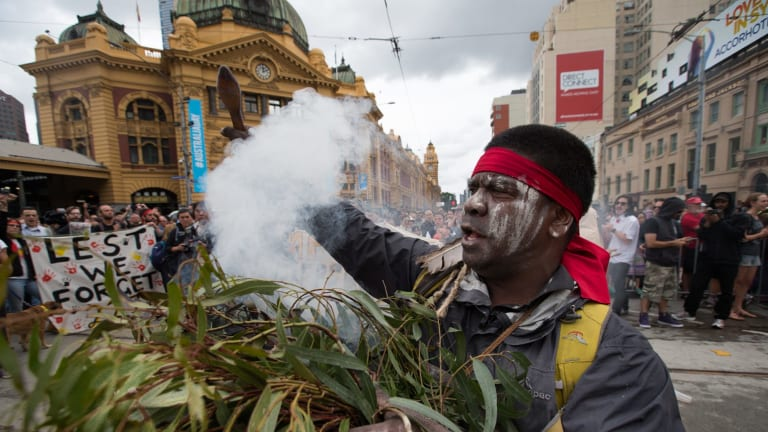 Invasion Day marchers in 2015.