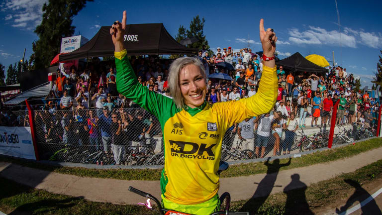 BMX champion Caroline Buchanan.