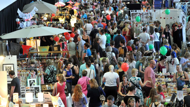 The Handmade Market is hugely popular.