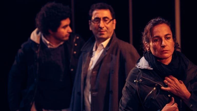 Osamah Sami, Rodney Afif and Nicole Nabout in Good Muslim Boy.