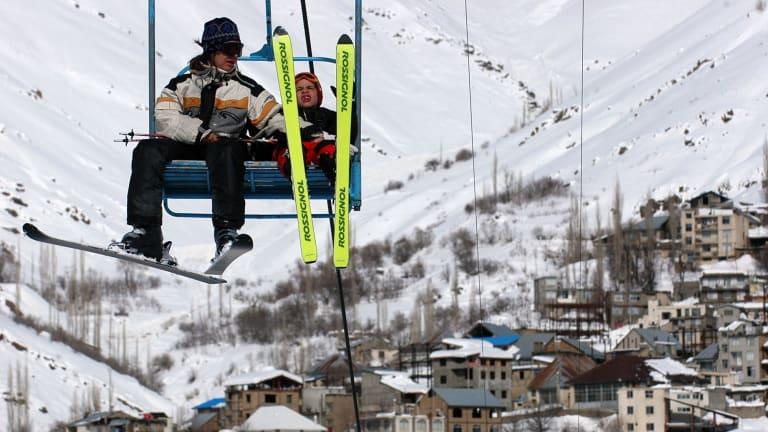 Skiers at the Shemshak resort north of Tehran.