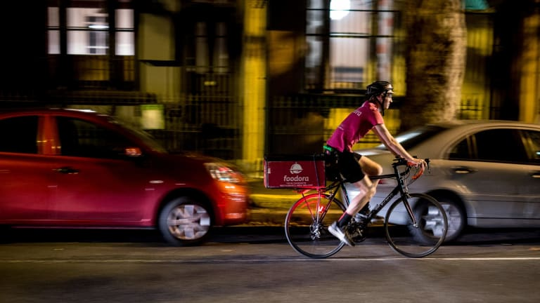 """Foodora Australia's chief executive Toon Gyssels said: """"We (pro-actively) work with authorities and bicycle communities across Australia to ensure bicycle safety on the road."""""""