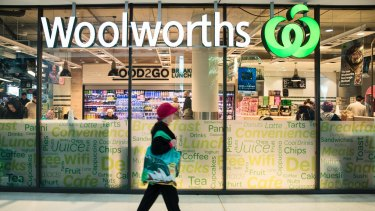Comparable sales at Woolworths grew 4.9 per cent.