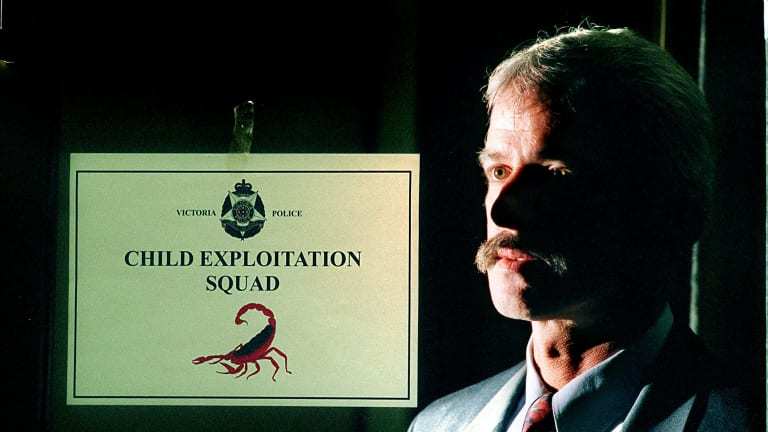 Then Senior Sergeant Chris O'Connor at the Child Exploitation Unit at St Kilda Rd police headquarters in 1997.