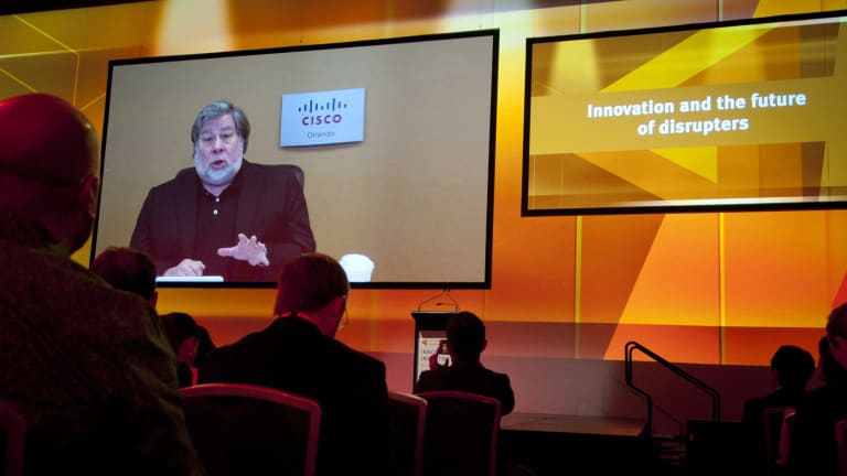 """Steve Wozniak tells the innovation summit that artificial intelligence researchers are getting close to the point of understanding """"what the brain is""""."""