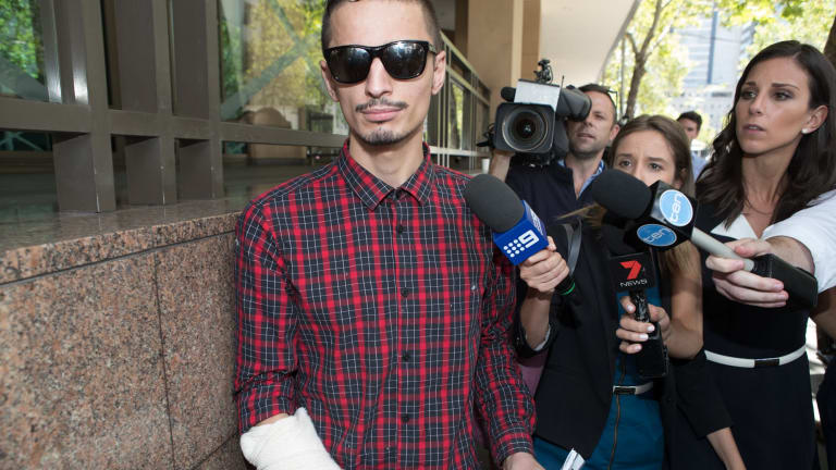 Angelo Gargasoulas leaves Melbourne Magistrates Court on February 2.