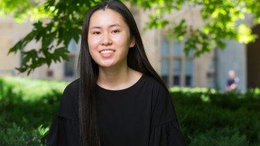 Frankston High student Fiona Yu achieved an ATAR of 99.90.