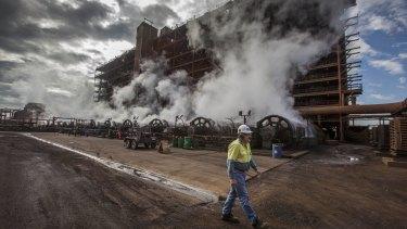 Queensland Nickel's refinery in Townsville.