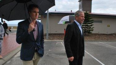 Former Premier Colin Barnett and Environment Minister Albert Jacob.