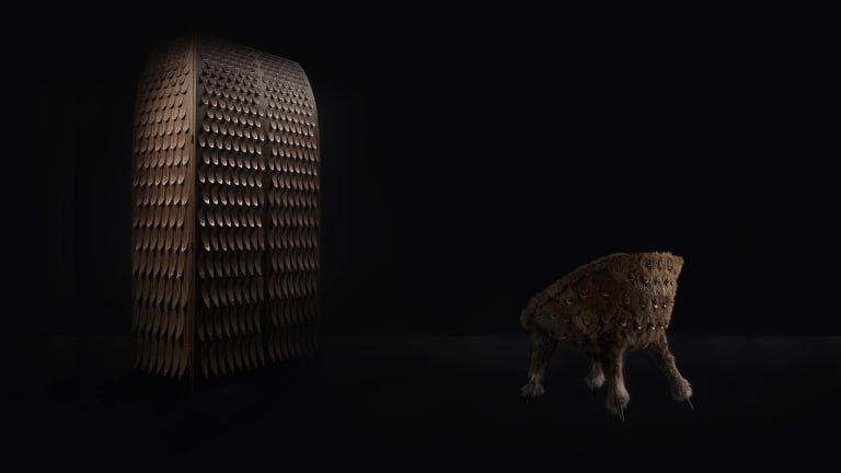 Twenty-four of the Broached Commissions creations are on display at the NGV Design Studio.