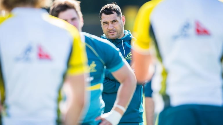 Hot water: George Smith at Wallabies training last year.