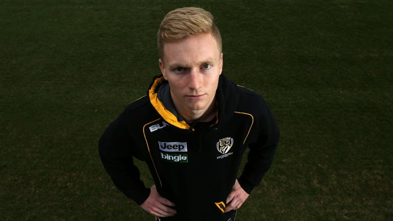 Tough debut: Nathan Drummond will remember his first game in the seniors all too well.