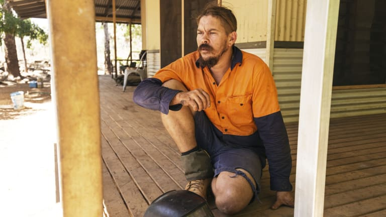 Matty Pollard, a builder originally from Fitzroy Crossing, was working on housing in the remote Aboriginal town of Kandiwal in the Kimberley.