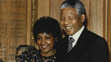 Winnie and Nelson Mandela in July 1990, when Nelson Mandela had been appointed Vice-President of the African National Congress.