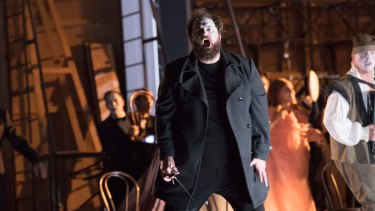 Tour de force: British tenor Allan Clayton in the title role of <i>Hamlet</i>.