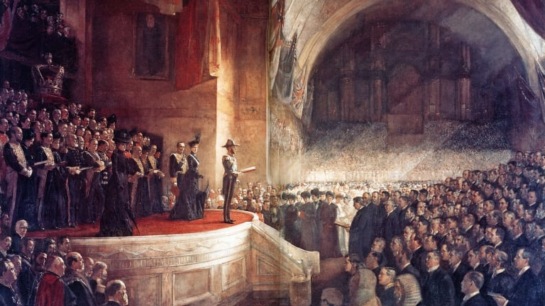 Tom Roberts' 'Big Picture', Opening of the first Parliament of the Commonwealth of Australia (1903).