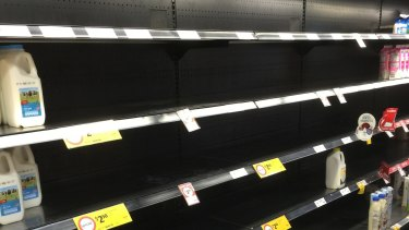 A week after the industrial dispute at Coles' cold storage facility in Melbourne erupted, there are still yawning gaps on the supermarket chain's shelves.