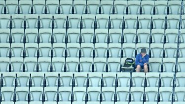 MELBOURNE, AUSTRALIA - DECEMBER 29:  A small crowd watches on during day four of the Second Test match between Australia and the West Indies at Melbourne Cricket Ground on December 29, 2015 in Melbourne, Australia.  (Photo by Scott Barbour/Getty Images)