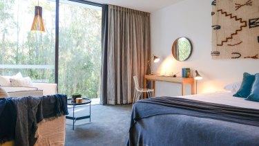 A Pavilion suite at Bannisters Pavilion, Mollymook.
