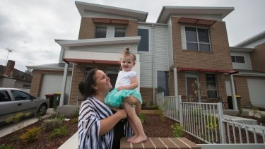 Charmain Lee with her daughter, Charlize, 2, at their new home.