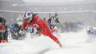 Buffalo Bills wide receiver Kelvin Benjamin scores a touchdown.