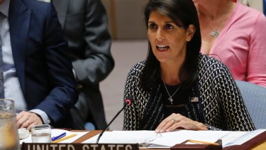 US ambassador to the UK, Nikki Haley said  Congo's election to the UNHCR harmed the credibility of the body.