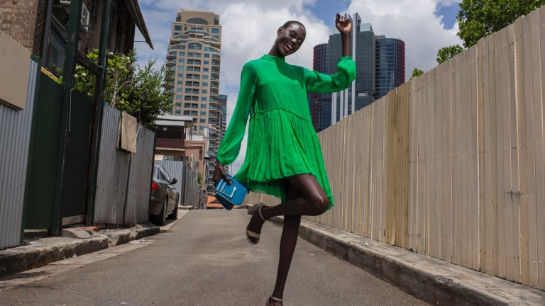 Deng, born in South Sudan, is one of Australia's top models.