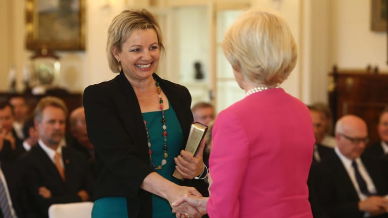 Ms Ley during her swearing in as Assistant Minister for Education following the 2013 election.