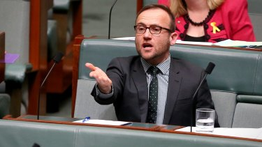 """Greens MP Adam Bandt said on Monday: """"The more coal we burn, the more intense extreme weather events like Cyclone Debbie will be."""""""