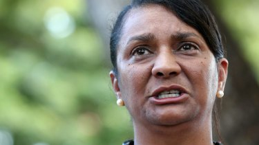 Former Labor senator Nova Peris shared the racist and offensive posts.