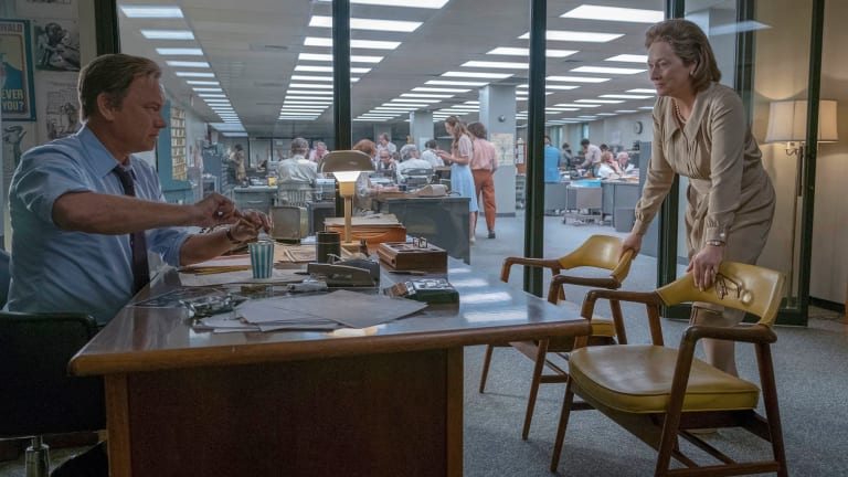 Tom Hanks and Meryl Streep in The Post.