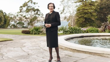 Dame Marie Bashir at Government House last September, while still NSW governor.