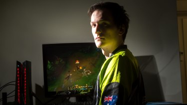 """Tim """"Carbon"""" Wendel who will be competing in the Australian team for eSports League of Legends at Margaret Court Arena."""