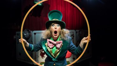 Eloise Green as the Mad Hatter. Photo Daniel Boud