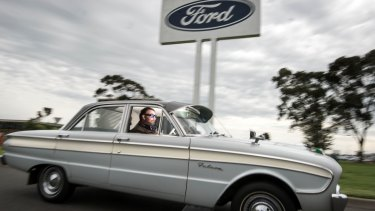 Ford enthusiast Patrick Boylan drove from Mt Gambier in his 1960 XK Ford Falcon.