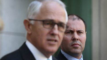 Energy Minister Josh Frydenberg with Prime Minster Malcolm Turnbull.