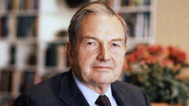 David Rockefeller, pictured in 1981.
