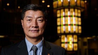 Tibetan president Lobsang Sangay in Sydney on Saturday.