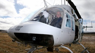 Prime Minister Malcolm Turnbull boards a helicopter tour for an aerial view of the region.