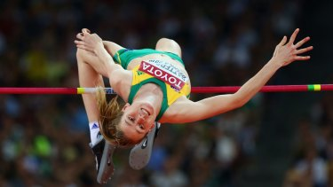 Eleanor Patterson clears the bar.