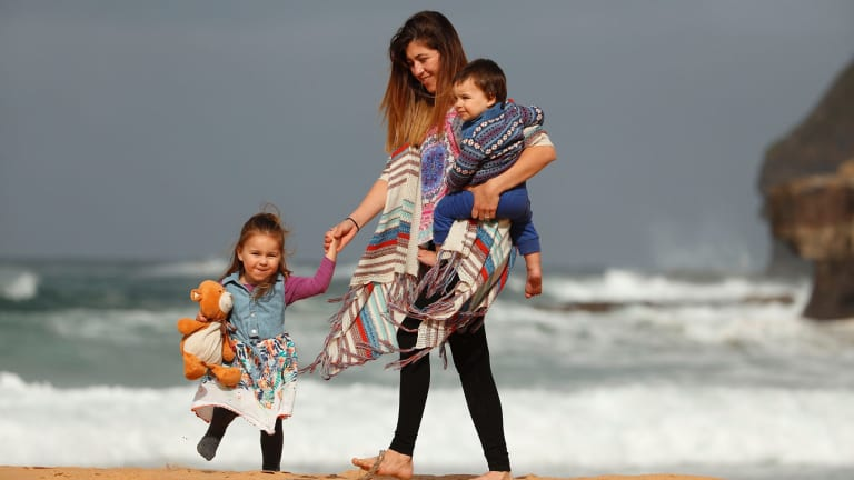 Marian Russell had to take her children, Allegra, 2, and Bodie, 1, out of swimming lessons because of money worries.