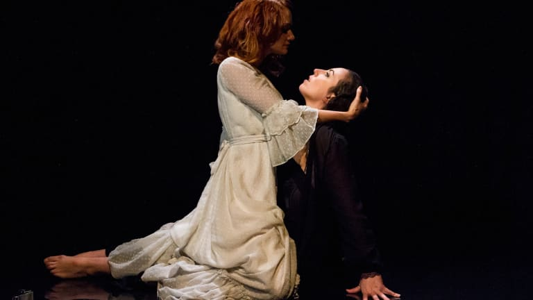 Zoe Boesen and Alex Aldrich in the Red Stitch production of The Moors.