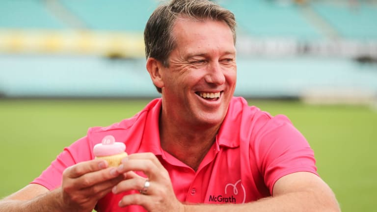 Former cricketer Glenn McGrath, who started the McGrath Foundation, which supports women with breast cancer.