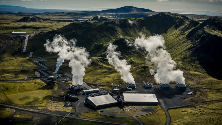 The Hellisheidi geothermal facility is the world's first carbon-negative power plant.