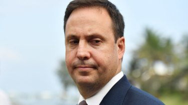 Australian Trade Minister Steven Ciobo after a meeting for the Trans-Pacific Partnership.