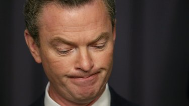 Inevitable: Christopher Pyne has refused to concede defeat after the Senate rejected the government's higher education bill.