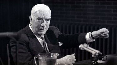 Prime minister Sir Robert Menzies in 1966.