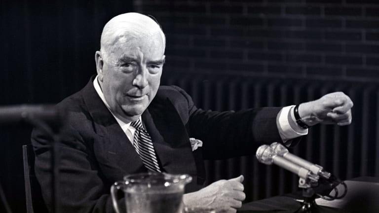 Prime minister Sir Robert Menzies in 1966.
